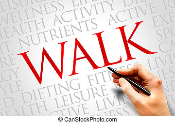 WALK word cloud