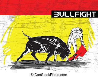 walka byków, ilustracja