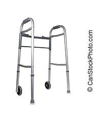 Walker - Metal walker used to assist when walking for ...