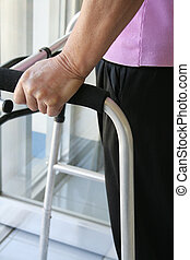 Walker - Person with disability using a walker