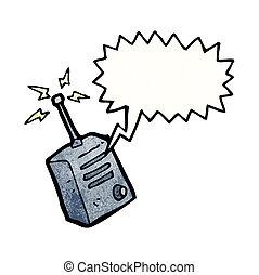 walkie, rysunek, talkie