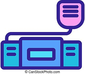 walkie talkie device icon vector outline illustration