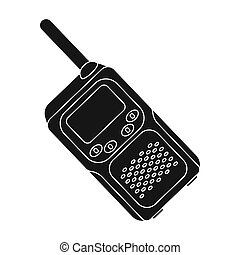 Walkie-talkie. Paintball single icon in black style vector symbol stock illustration web.