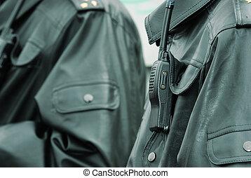 walkie-talkie, policja