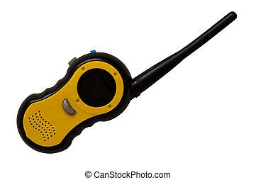 Walkie talkie - an isolated walkie talkie childrens toy.