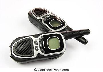 Walkie talkie - A long-range walkie talkie with soft shadow...
