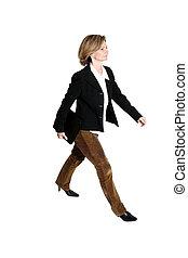 walkin, femme affaires
