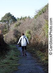 Walking a country lane