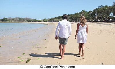 Walking at coastline