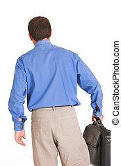 Walking away again - Business man walking away from meeting