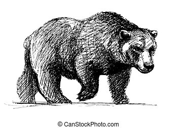 Walking bear Clipart and Stock Illustrations. 3,033 ...