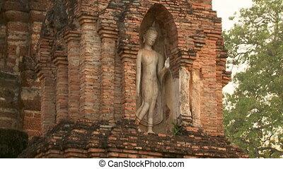 Walking Buddha image at Sukhothai