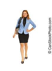 Walking business woman