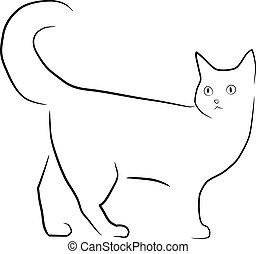 walking cat illustration