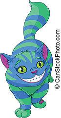 Walking Cheshire Cat - Illustration of walking Cheshire Cat...