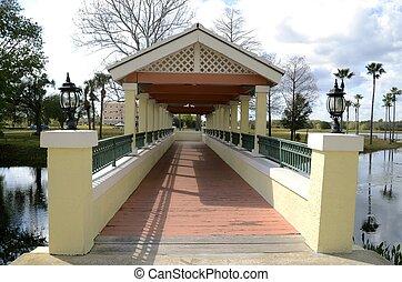 Walking covered bridge