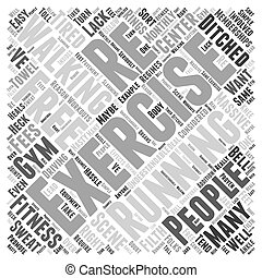 walking for exercise Word Cloud Concept