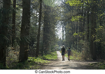 walking in nature