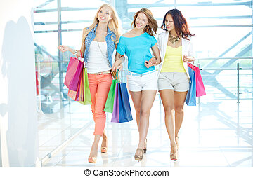 Walking in the mall