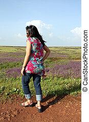Walking in the Meadows
