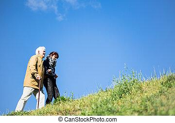 Walking in the mountians