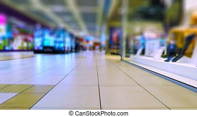 Walking in the shopping mall