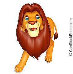 walking Lion cartoon character