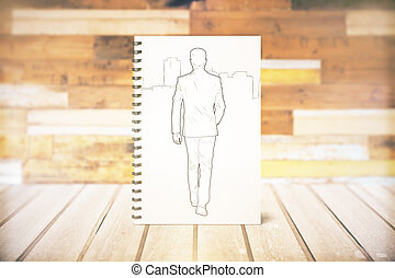 Walking male sketch