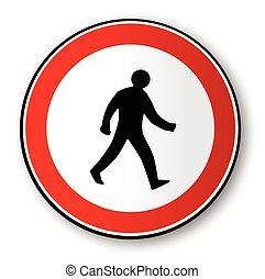 Walking Man Road Traffic Sign