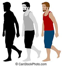 Walking Man Set - An image of a walking man set.