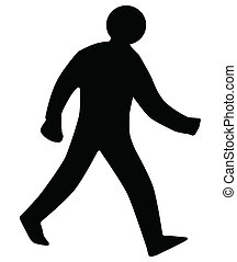 Walking Man Silhouette - A walking man silhouette as found ...
