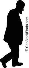 walking man silhouette vector