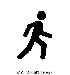Walking man symbol. Pedestrian icon.