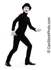 walking mime