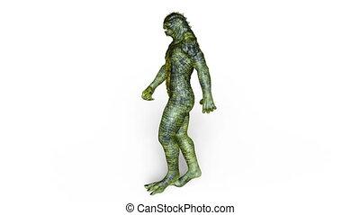 Walking monster - 3D CG rendering of a walking monster.