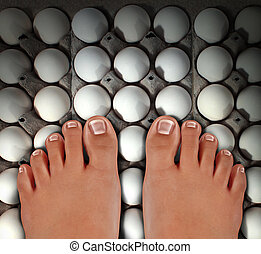Walking On Eggs - Walking on eggs as an emotional concept of...