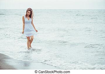 Walking on sea coast