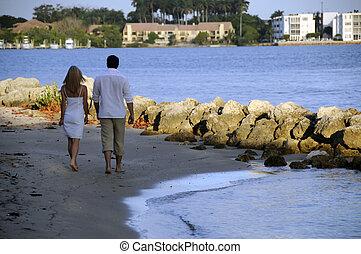 Walking on the Beach 1