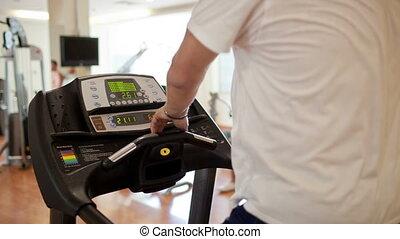 Walking on the treadmill