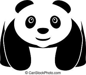 Walking panda vector icon