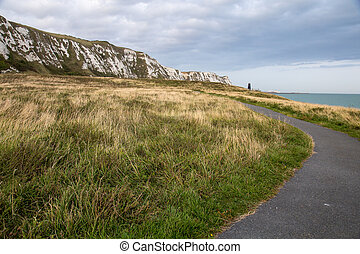Walking path near White Cliffs of Dover - A walking path ...
