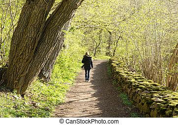 Walking photographer