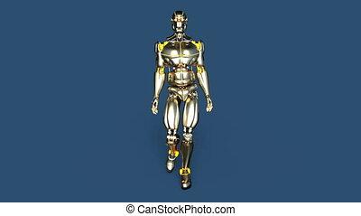 3D CG rendering of a walking robot.