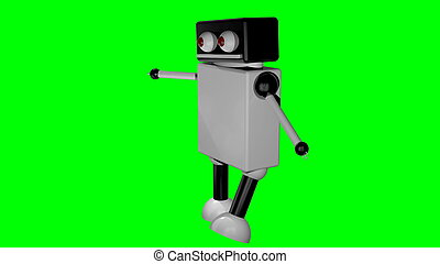 Walking robot on isolated background. 3D rendering
