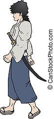 Walking samurai