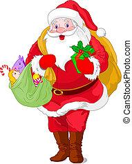 Walking Santa Claus