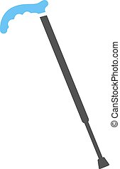 Stick, walking, old icon vector image. Can also be used for objects. Suitable for use on web apps, mobile apps and print media.