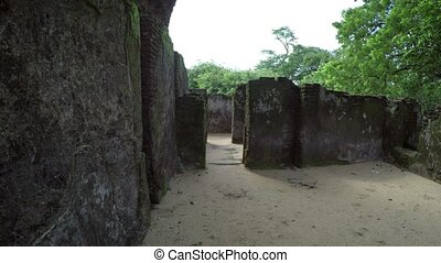Walking through the Ruins of the Royal Palace in Polonnaruwa...