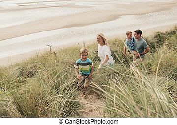 Walking Through the Sand Dunes
