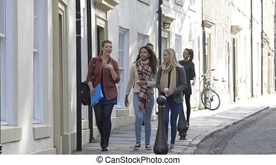 Walking to University